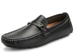 加绒男士真皮鞋男鞋鞋驾车鞋懒人鞋