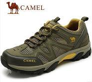 camel 骆驼户外男鞋 2013夏季新款 真皮网布透气休闲 徒步登山