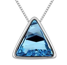 恋时尚 奥地利水晶项链--屋顶上的秘密 吊坠项坠 女士饰品 礼物
